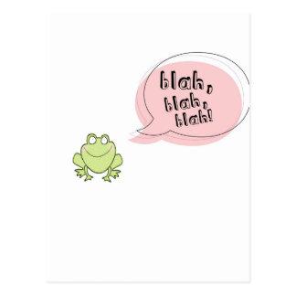 Blah Frog Postcard