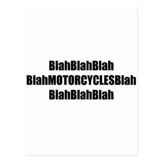 Blah Motorcycles Blah Postcards