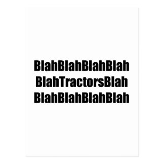 Blah Tractor Blah Tractor Gifts By Gear4gearheads Post Cards