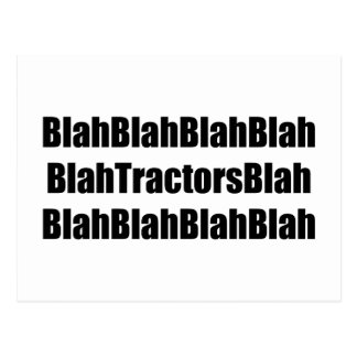 Blah Tractor Blah Tractor Gifts By Gear4gearheads Postcard
