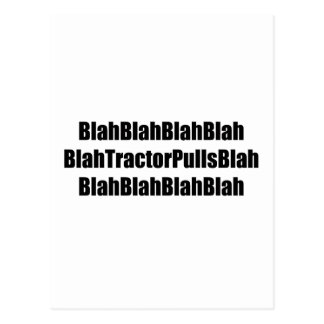 Blah Tractor Pulls Blah Tractor Gifts Post Card