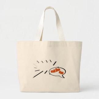 BlahBlahBlah. Large Tote Bag