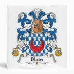 Blain Family Crest 3 Ring Binders