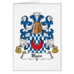 Blain Family Crest Cards