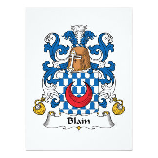 Blain Family Crest Personalized Invites