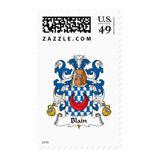 Blain Family Crest Postage Stamps