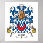 Blain Family Crest Print
