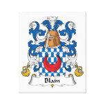 Blain Family Crest Stretched Canvas Prints