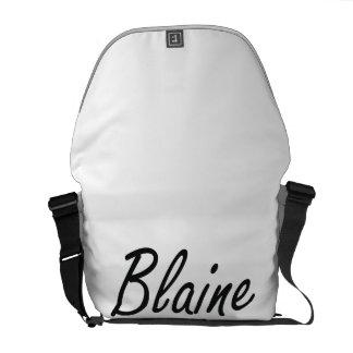 Blaine Artistic Name Design Messenger Bags