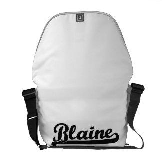 Blaine Classic Retro Name Design Messenger Bag