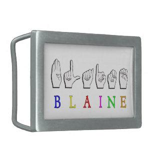 BLAINE FINGERSPELLED ASL BELT BUCKLE