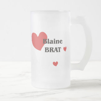 Blaine Frosted Glass Beer Mug