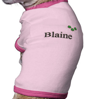 Blaine Irish Name Pet Shirt