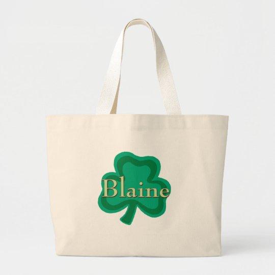 Blaine Irish Name Large Tote Bag