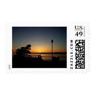 Blaine Pier Sunset Postage Stamp