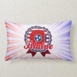 Blaine, TN Throw Pillow