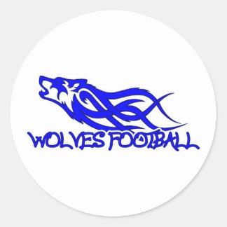 Blaine Wolves Round Stickers
