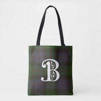 Blair Clan Tartan Monogram Tote Bag