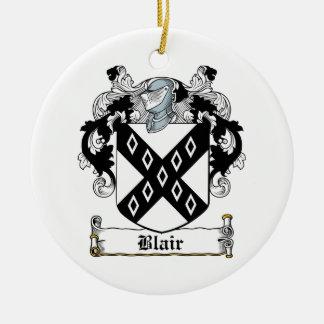 Blair Family Crest Christmas Tree Ornaments