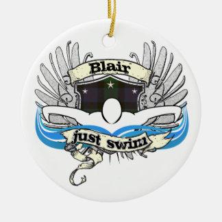 Blair Just Swim Ornaments