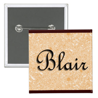 Blair Name Tag Button
