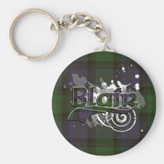 Blair Tartan Grunge Basic Round Button Keychain
