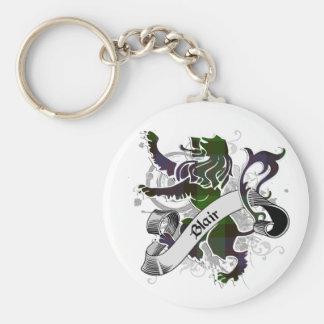 Blair Tartan Lion Basic Round Button Keychain