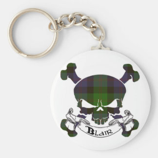 Blair Tartan Skull Keychain