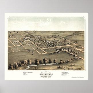 Blairstown, IA Panoramic Map - 1868 Poster