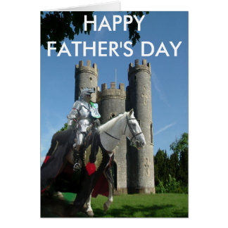 Blaise castle and Knight - HAPPY FATHER'S DAY Card