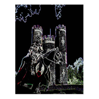 Blaise castle's knight postcard