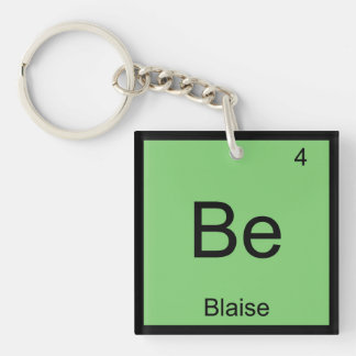 Blaise Name Chemistry Element Periodic Table Keychain