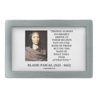 Blaise Pascal Arrive At Beliefs Basis Attractive Belt Buckle