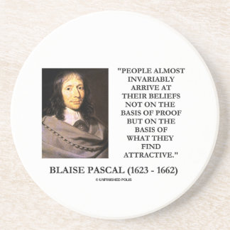 Blaise Pascal Arrive At Beliefs Basis Attractive Coaster