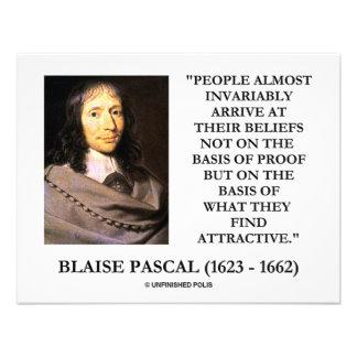 Blaise Pascal Arrive At Beliefs Basis Attractive Invitation
