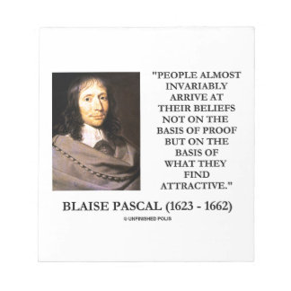 Blaise Pascal Arrive At Beliefs Basis Attractive Notepad