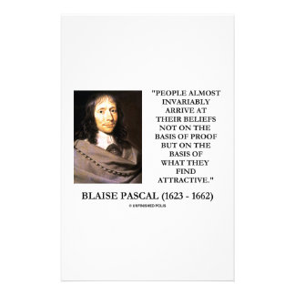 Blaise Pascal Arrive At Beliefs Basis Attractive Stationery