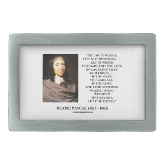 Blaise Pascal Gain Loss Wagering God Exists Quote Belt Buckle