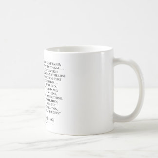 Blaise Pascal Gain Loss Wagering God Exists Quote Coffee Mug
