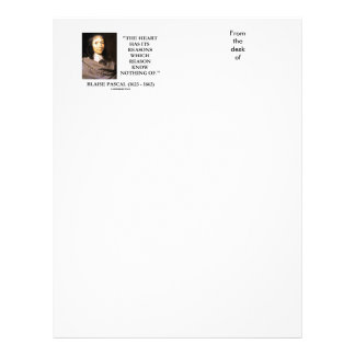 Blaise Pascal Heart Reasons Reason Know Nothing Of Letterhead