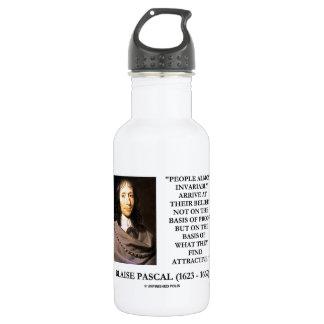 Blaise Pascal llega la base de las creencias