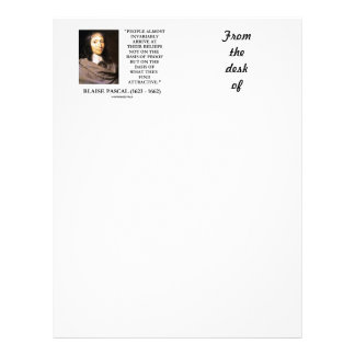 Blaise Pascal llega la base de las creencias Plantillas De Membrete