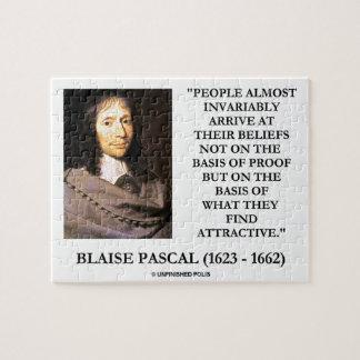 Blaise Pascal llega la base de las creencias Puzzle