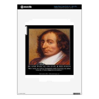 Blaise Pascal Religious Evil Quote Decals For iPad 3