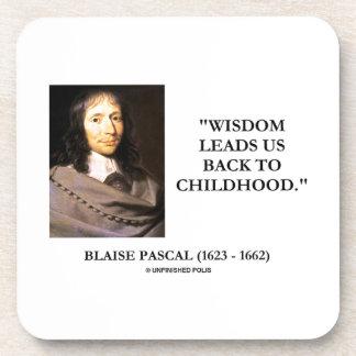 Blaise Pascal Wisdom Leads Us Back To Childhood Beverage Coaster