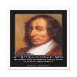 Blaise Pascal y impresión malvada religiosa de la Impresiones En Lienzo Estiradas
