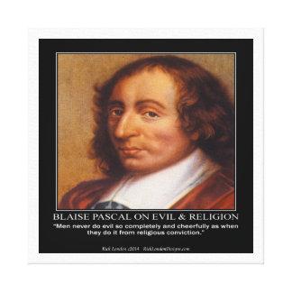 Blaise Pascal y impresión malvada religiosa de la Impresiones En Lona