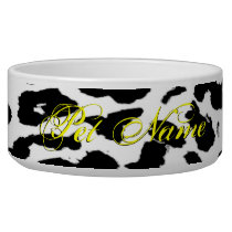 Blak and white animal skin texture of leopard bowl