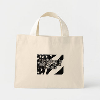 Blak and White Flag - Nothing is Black and White Mini Tote Bag