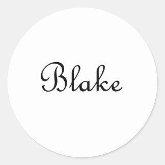 Blake Classic Round Sticker
